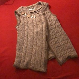 MaxMara Marella grey wool sweater vest.